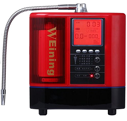 LF600E - Purificador de agua alcalina para el hogar, ionizador de agua, color rojo