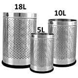 Parasnath Stainless Steel Perforated Dustbin 7''X11''-6L+8''X13''+10L+10''X15''-18L (all in 1)