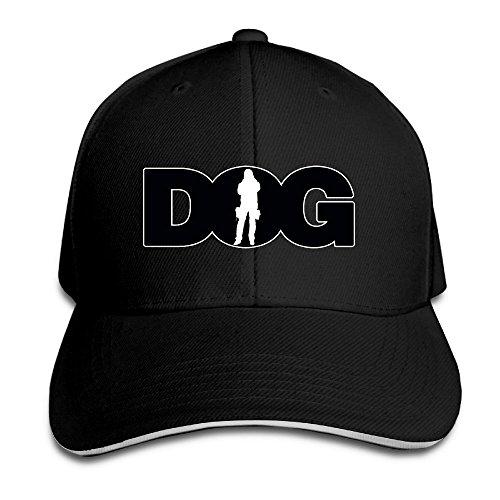 Hittings Dog The Bounty Hunter Adjustable Washed Twill Sandwich Caps Hats Black -