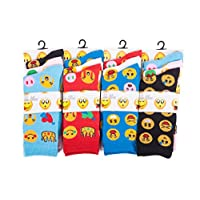 IMTD 12prs Ladies Girls Funny Carton Novelty Faces Icons Design Pattern Socks Emoji Style Socks Funny Faces Socks