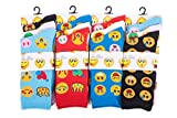 IMTD 12prs Ladies Girls Funny Carton Novelty Faces Icons Design Pattern Socks Emoji Style Socks 4-7