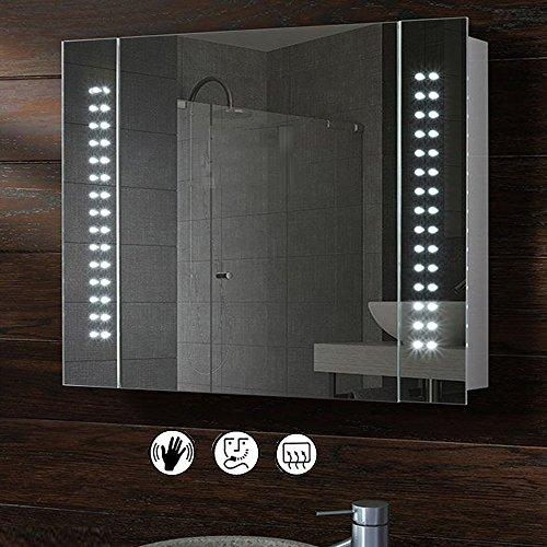 Schindora LED Illuminated Bathroom Mirror Cabinet Shaver Demister (Type 1)