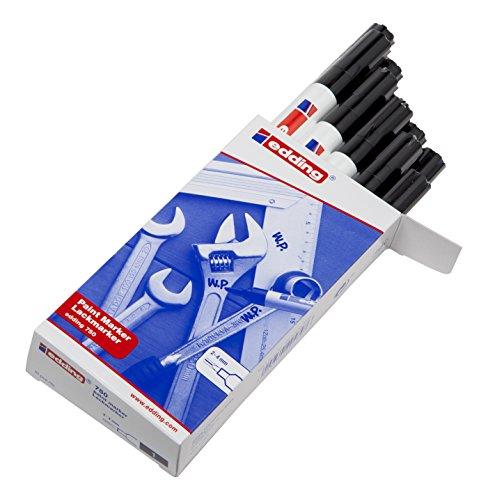 edding-marqueur-peinture-encre-permanente-pour-toutes-surfaces-pointe-moyenne-noir-lot-de-10