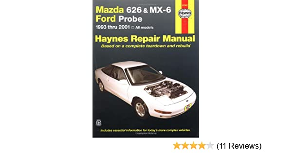 mazda 626 and mx 6 ford probe automotive repair manual 1993 to 2001 rh amazon co uk 93 Ford Probe Specs 93 Ford Probe Specs