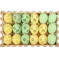 Descrizioni dei prodotti:1. Colore e dimensioni: verde / giallo, circa 6 cm, confezionato in una scatola a forma di recinzione, 27x17x6 cm 2.Materiali plastici, solidi e impermeabili, progettati con un nastro per appenderli facilmente. 3. Que...