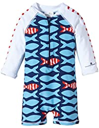 Snapper Rock Baby Boys & Baby Girls UPF 50+ UV Protective Warm Long Sleeve Swimsuit For Kids