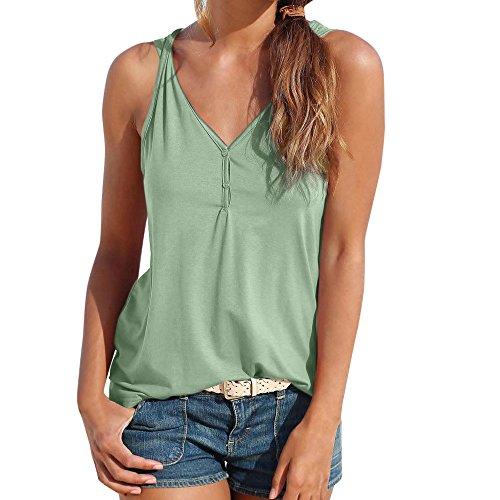 Sumtter canotte donna estive elegant camicette natural magliette senza maniche sexy bluse tank tops