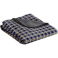 10T Picnic Flanell Picknickdecke 150x135cm weiche Reisedecke Strandmatte Campingdecke Matte Unterlage mit Nässe und Kälte-Schutz, waschmaschienenfest 30°C, Tragegriff