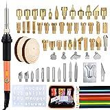 71 PCS Pirografia Legno Kit, Saldatura Elettrica Kit   Kit per saldatore con punte, Utensili Incisione Per Pelle, Artigianato In Sughero - Tipo migliorato - con interruttore ON/OFF
