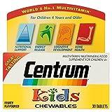 6 x Centrum Kids Multivitamins 30's