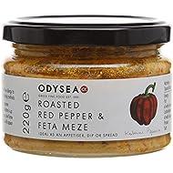 Odysea Red Pepper and Feta Meze Jar 220g (Pack of 3)