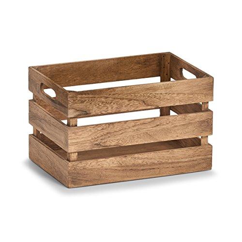 Zeller 15165 Aufbewahrungs-Kiste Vintage, Holz Kiste, Holz, Natur, ca. 31 x 21 x 19 cm -