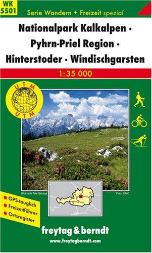 Freytag Berndt Wanderkarten, WK 5501, Nationalpark Kalkalpen - Pyhrn - Priel - Region Hinterstoder - Windischgarsten 1:35.000