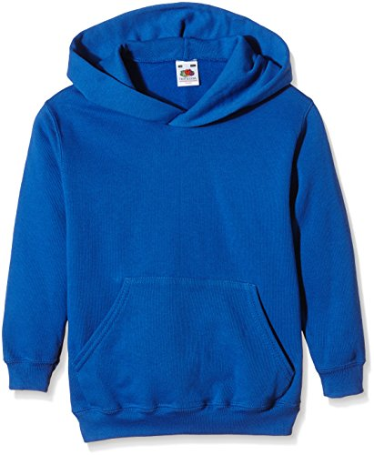 Fruit of the Loom Unisex Kids Pull-Over Classic Hooded Sweat, Royal, 12-13 Years (Manufacturer Size:34)