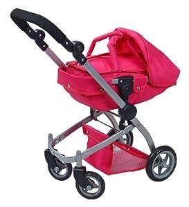 Knorr 90288 Twenty4 - Cochecito de bebé de Juguete con diseño de Mariposa, Color Rosa