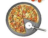 Sendez Pizzateller Set ø36cm aus Schiefer mit Pizzaschneider Pizzaschneidebrett Pizzabrett