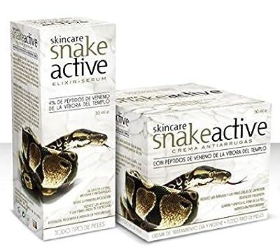 Anti Aging Bio Snake Gesichtscreme MyGlamy SET Schlangengift 2 in 1 Tages und Nachtpflege 50 ml. Gesichtscreme+30 ml Serum Anti Aging 100% Bio Snake Cream.
