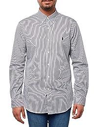 Polo Ralph Lauren Ls Slim Fit Bd Ppc Spt-Camicia Uomo nero S