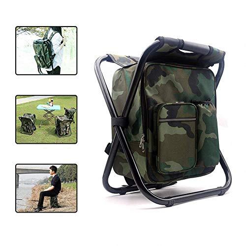 Klapp Camping Hocker Rucksack Stuhl Mit Kühler Isolierte Picknick Tasche Angelausrüstung Sitzsack Rucksack Rucksack Camping Hocker Sitz Box Tackle Box Bag