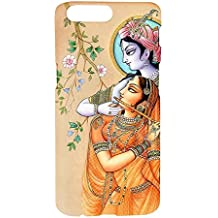 One Plus 5 Printed Hard Back Cover - Lord Radha & Krishna (By Fancy Interio).