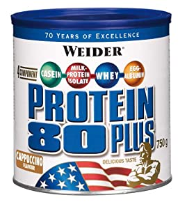 Weider 80 Plus Protein, Cappuccino (1 x 750 g)