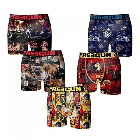 Freegun - Lot 5 Boxers - Homme - Taille L