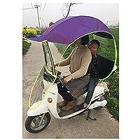 ewby Electric car umbrella canopy Motorcycle Windshield Rain Umbrellas Sunscreen Summer Sun Umbrella discolored purple-no rear view mirror