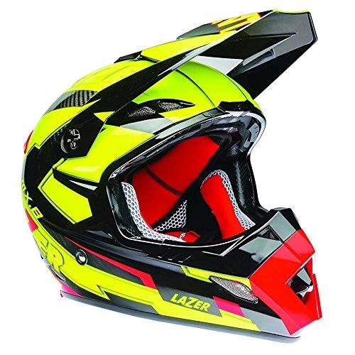 Preisvergleich Produktbild Lazer mx8-carbon Geotech gelb fluo / rot Helm