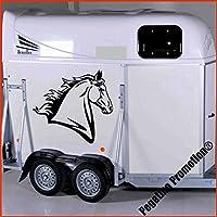Pferdekopf Modell 3 Aufkleber Anhänger Pferd Anhänger ca. 60cm