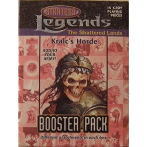 Kralc's Horde Booster Pack, 15 Gray Playing Pieces, Legends - The Shattered Lands. For use with Stratego Legends game system.