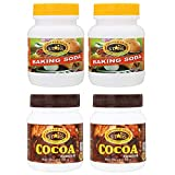 TRIPPLESTAR Baking Soda- 100 gm, Pack of 2 and Cocoa Powder- 50 gm