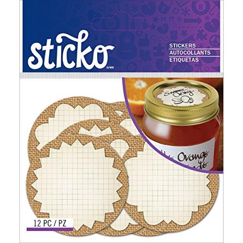 Unbekannt Sticko Label Jute Mason Jar Etiketten Aufkleber