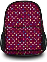 Luxburg® Design sac à dos multifonction cartable collège backpack, motif: LX bordeaux