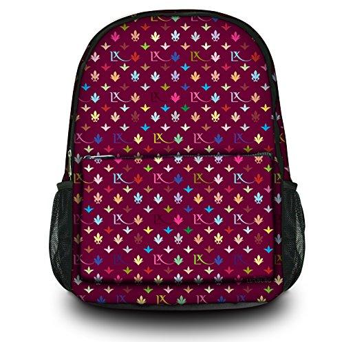 Luxburg® Design Rucksack Multifunktionsrucksack Ranzen Schulranzen Sporttasche Backpack LX Muster weinrot