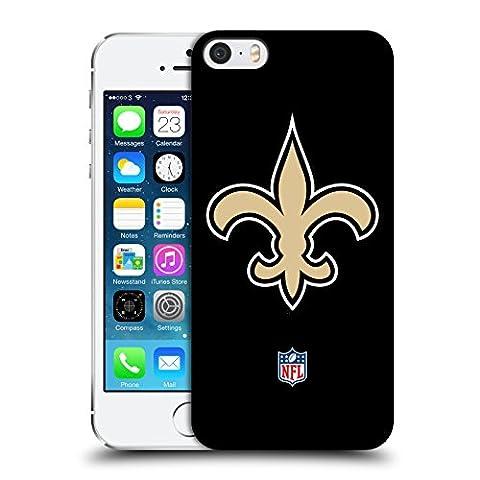 Officiel NFL Plaine New Orleans Saints Logo Étui Coque D'Arrière Rigide Pour Apple iPhone 5 / 5s / SE