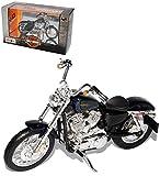 alles-meine.de GmbH Harley Davidson 2012 XL 1200V Seventy Two Blau Schwarz 1/18 Maisto Modell Motorrad