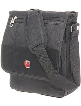 Schultertasche Flugbegleiter Umhängetasche Business Messenger Bag Ausweistasche Citybag Tasche Black NEU