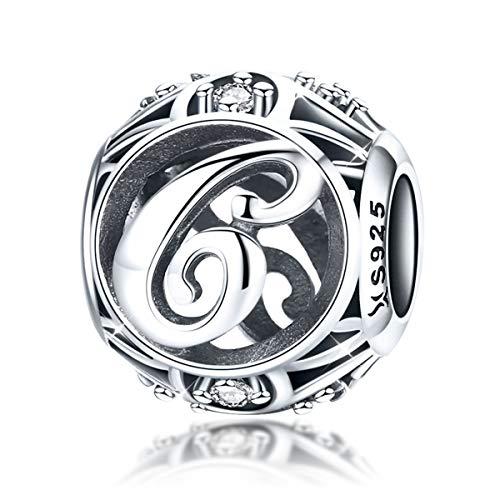 Charm-Anhänger Buchstabe C Sterling-Silber 925 Zirkonia für Armbänder und ()