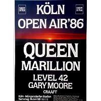 QUEEN - MARILLION - 1986 - Konzertplakat - Moore - Level - Köln - Bild