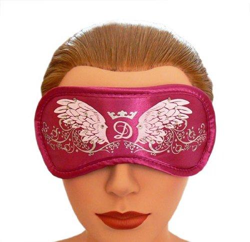 Trendfinding Daydream Schlafmaske mit Swarovski Kristallen Wings Magenta mit Kühlpad