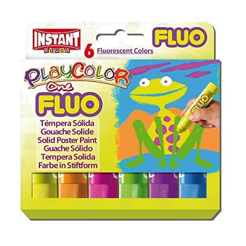 playcolor-10431-10-g-flu-one-solid-poster-paint-stick-pack-of-6