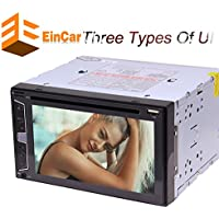 Bluetooth Car Stereo Audio In-Dash FM Aux Input Receiver SD USB MP3 Radio Player 2Din Universal DVD CD Player support Remote Control Capacitive Screen with 3 UIs 7 Color Backlight for your choice