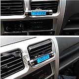 USUN Termometro e orologio digitale da auto con schermo LCD a luce blu