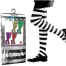 Pantys Infantiles Rayas Negras y Blancas Accesorio Carnaval y Halloween
