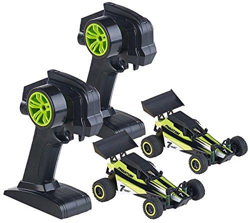 Simulus Mini RC Cars: 2er-Set Ferngesteuerte Miniflitzer, 2.4GHz Technologie (RC Fahrzeuge)