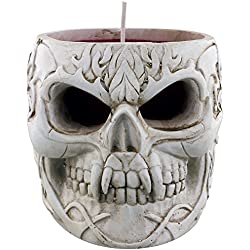 Spiral Goth Skull Vela Negro
