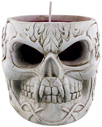 Spiral Goth Skull Kerze schwarz