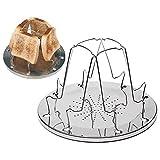SODIAL 4 rebanadas que acampan la bandeja de la tostada del pan de las estufas de gas Cocina que acampa que acampa de la tostadora