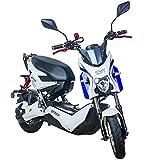 Elektroroller E Rider 1200W Elektrisches Street Bike Moped Adult Motorrad bis 45km / h (Weiß)