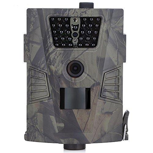 Wildkamera 8MP 720P Jagd Kamera mit 90 Grad Weitwinkel Objektiv 30pcs IR LEDs 20m Nachtsicht Wildlife Kamera mit IPX54 Wasserdicht für Jagd Reisen Camping Home